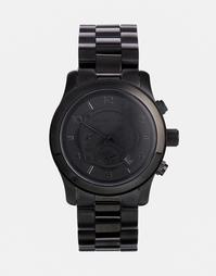 Черные часы oversize с хронографом Michael Kors MK8157 - Черный