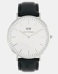 Часы с кожаным ремешком Daniel Wellington Sheffield - Черный