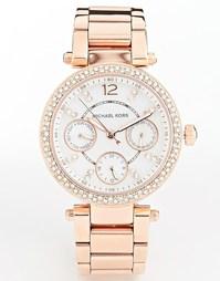Часы цвета розового золота с хронографом Michael Kors Parker MK5616