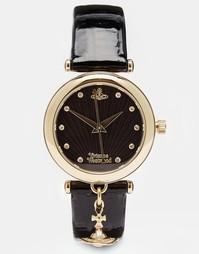 Черные часы с подвеской Vivienne Westwood Time Machine VV108BKBK