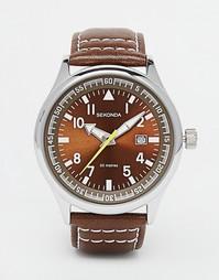 Часы из нержавеющей стали с датой Sekonda - Серебряный