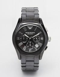 Черные керамические часы с хронографом Emporio Armani AR1400 - Черный
