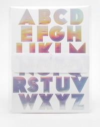 Серебристые стикеры алфавит Meri Meri - Мульти
