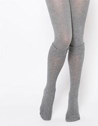 Колготки с узором в косичку и имитацией носков Jonathan Aston Mirage