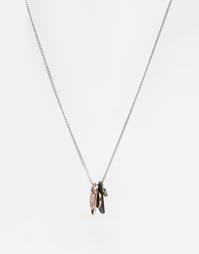 Ожерелье с жетонами Icon Brand - Серебряный
