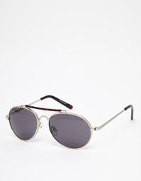 Серебристые круглые солнцезащитные очки AJ Morgan Avenger - Серебряный