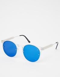 Круглые солнцезащитные очки с зеркальными стеклами Spitfire Post Punk