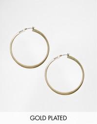 Позолоченные серьги-кольца Pilgrim - С золотым покрытием