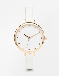 Часы на тонком ремешке ASOS - Розовое золото