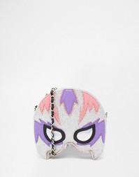Сумочка через плечо в виде маски супергероя Skinnydip - Серебряный