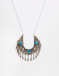 Бирюзовое ожерелье Rock 'N' Rose Gia - Бирюзовый