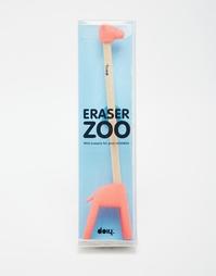 Карандаш с ластиками в виде жирафа Doiy - Мульти