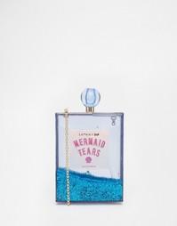 Синяя блестящая сумка-футляр Skinnydip Mermaid - Синий