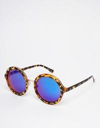 Зеркальные солнцезащитные очки в круглой оправе Quay Australia