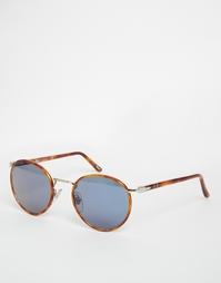 Солнцезащитные очки в круглой оправе Persol - Коричневый