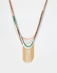 Ожерелье-цепочка с отделкой бисером ASOS - Мульти