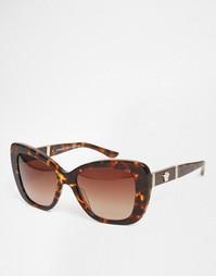 Солнцезащитные очки кошачий глаз Versace - Черепаховый