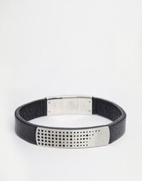 Кожаный браслет Emporio Armani - Черный