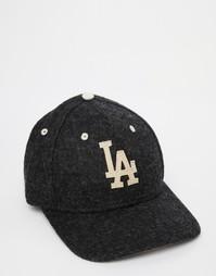 Шерстяная бейсболка New Era 9Fifty LA Dodgers - Черный