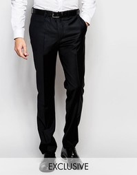 Эксклюзивные полушерстяные узкие брюки стретч Number Eight Savile Row