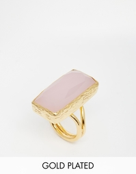Кольцо с прямоугольным розовым кварцем Ottoman Hands