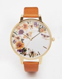 Часы со светло-коричневым кожаным ремешком Olivia Burton Enchanted Gar