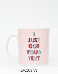 Кружка с принтом I Just Got Your Text Ohh Deer - Розовый