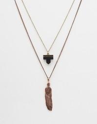 Набор медных ожерелий с подвесками ASOS - Шлифованная медь