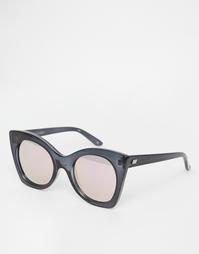 Солнцезащитные очки в стиле oversize c розовыми стеклами Le Specs Sava