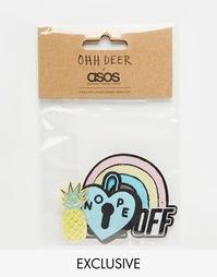 Набор термопереводных картинок и значков Ohh Deer Rainbow - Мульти