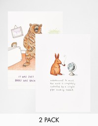 2 открытки с животными Ohh Dear - Мульти Gifts