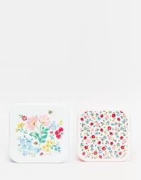 Набор из 2 коробок для ланча с принтом Cath Kidston - Белый