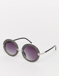 Круглые солнцезащитные очки с блестками Jeepers Peepers