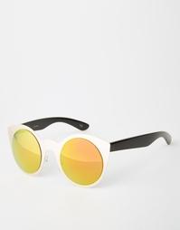 Солнцезащитные очки в металлической оправе ASOS Kitten - Золотой