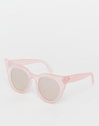 Розовые солнцезащитные очки кошачий глаз Le Specs Flashy Dramatic