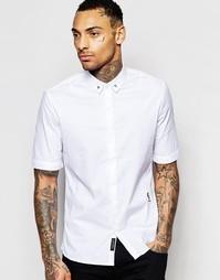 Рубашка классического кроя с короткими рукавами и уголками в виде чере Religion