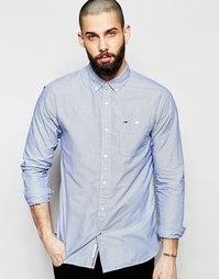 Рубашка в тонкую полоску Hilfiger Denim - Темно-синий