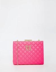 Стеганый клатч Love Moschino - Розовый