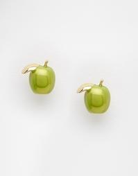 Серьги-гвоздики с яблоками Bill Skinner - Золотой