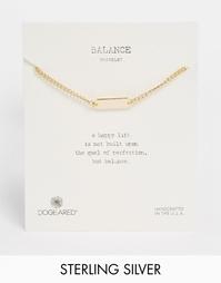 Позолоченный идентификационный браслет ASOS Balance - Золотой Dogeared