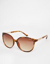Черепаховые круглые солнцезащитные очки Esprit - Гавана
