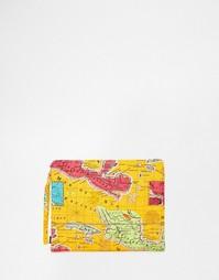 Клатч с картой Мехико Echo - Коралловый