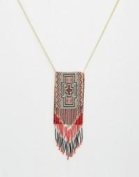 Ожерелье с кошельком из бисера ASOS - Мульти