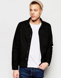 Черная джинсовая куртка с карманом спереди Weekday Core - Черный