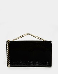 Черная лаковая сумка-конверт Versace Versace Jeans - Черный