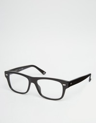 Квадратные очки в черной оправе с прозрачными линзами Gucci - Черный
