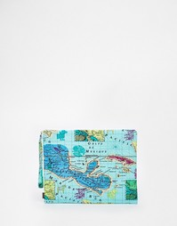 Клатч с картой Мехико Echo - Бирюзовый