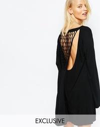 Платье с решетчатой спинкой Religion - Черный