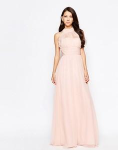 Платье макси Ashley Roberts специально для Key Collections - Телесный