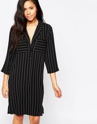 Платье-рубашка в полоску Minimum - Черный